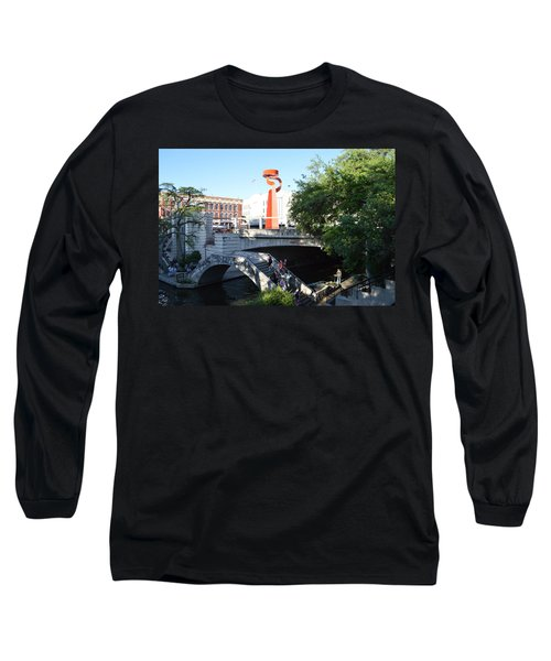 Long Sleeve T-Shirt featuring the painting San Antonio River 01 by Shawn Marlow