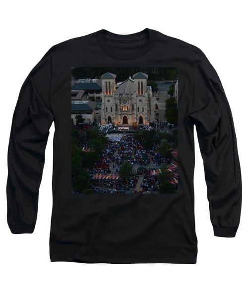 San Fernando Cathedral 001 Long Sleeve T-Shirt by Shawn Marlow
