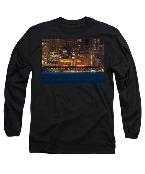 San Francisco Ferry Building At Night.  Long Sleeve T-Shirt