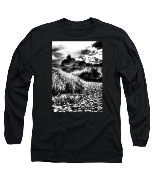 Long Sleeve T-Shirt featuring the photograph Sand In Ma Shoes by Robert McCubbin
