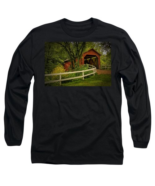 Sandy Creek Bridge Near Hillsboro Mo Dsc06888 Long Sleeve T-Shirt