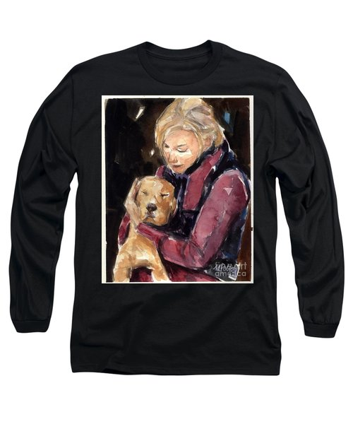 Long Sleeve T-Shirt featuring the painting Sandy Grace And Me by Molly Poole