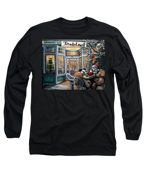 Santa At Toodeloos Toy Store Long Sleeve T-Shirt by Eileen Patten Oliver