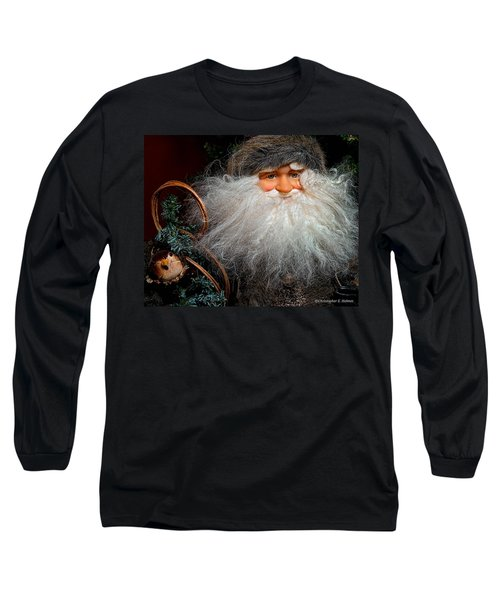 Santa Claus Long Sleeve T-Shirt by Christopher Holmes