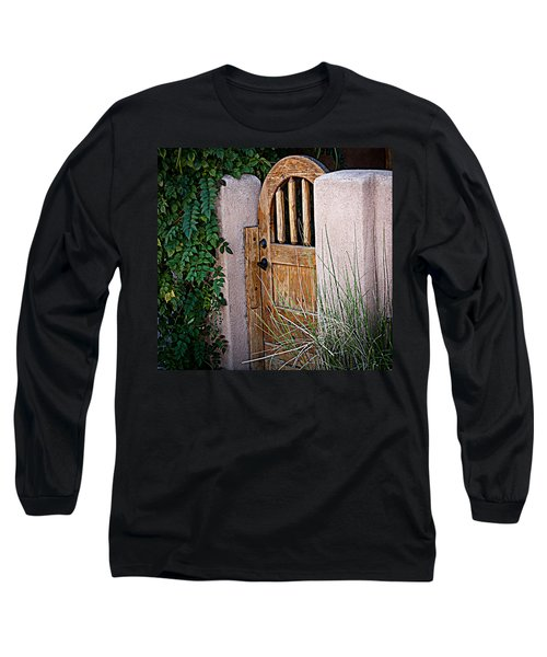 Long Sleeve T-Shirt featuring the photograph Santa Fe Gate by Patrice Zinck