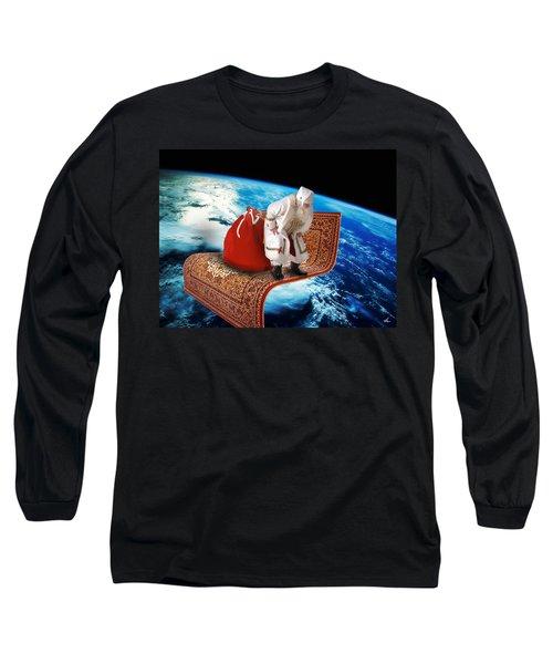 Santa's Flying Carpet Long Sleeve T-Shirt