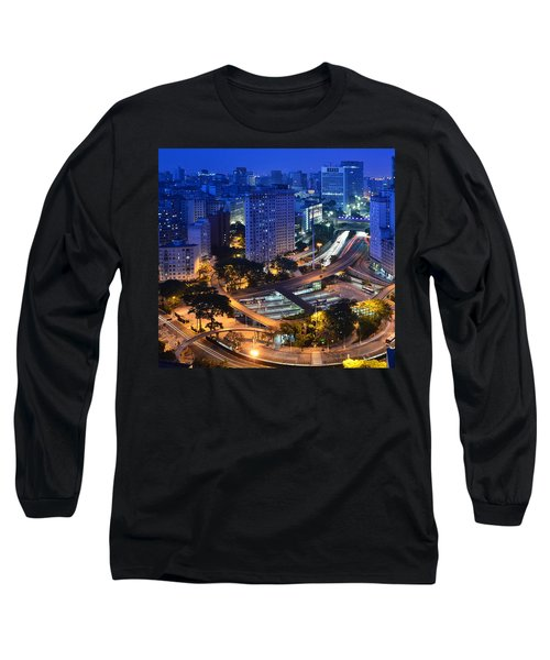 Sao Paulo Skyline - Downtown Long Sleeve T-Shirt