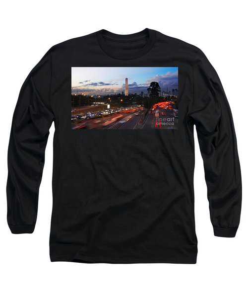 Sao Paulo Skyline - Ibirapuera Long Sleeve T-Shirt