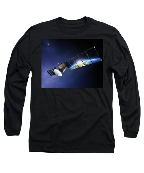 Satellite Communications With Earth Long Sleeve T-Shirt
