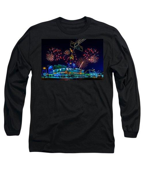 Saturday Night At Coney Island Long Sleeve T-Shirt by Chris Lord
