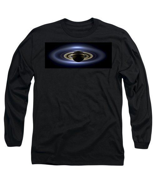 Saturn Mosaic With Earth Long Sleeve T-Shirt