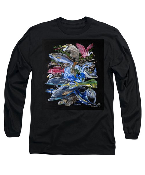 Save Our Seas In008 Long Sleeve T-Shirt by Carey Chen