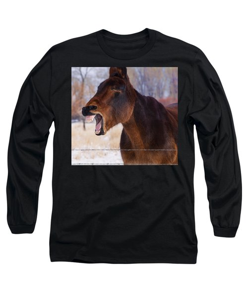 Say Ahhhh Long Sleeve T-Shirt by Fran Riley