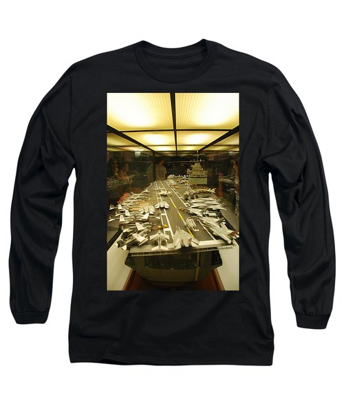 Scale Model Aircraft Carrier Long Sleeve T-Shirt