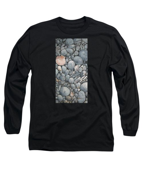Scallop Shell And Black Stones Long Sleeve T-Shirt