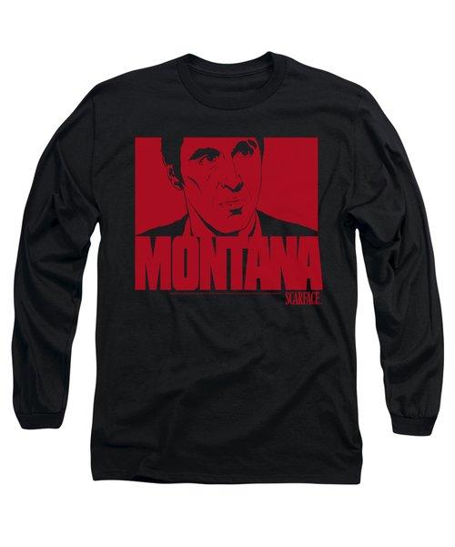 Scarface - Montana Face Long Sleeve T-Shirt