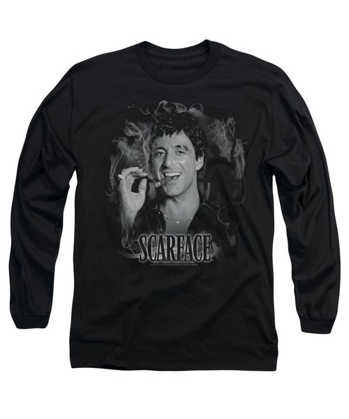 Scarface - Smokey Scar Long Sleeve T-Shirt by Brand A