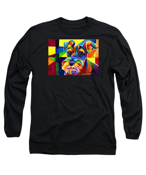 Schnauzer Long Sleeve T-Shirt by Sherry Shipley