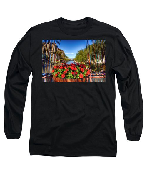 Scottsdale Waterfront Long Sleeve T-Shirt by Fred Larson