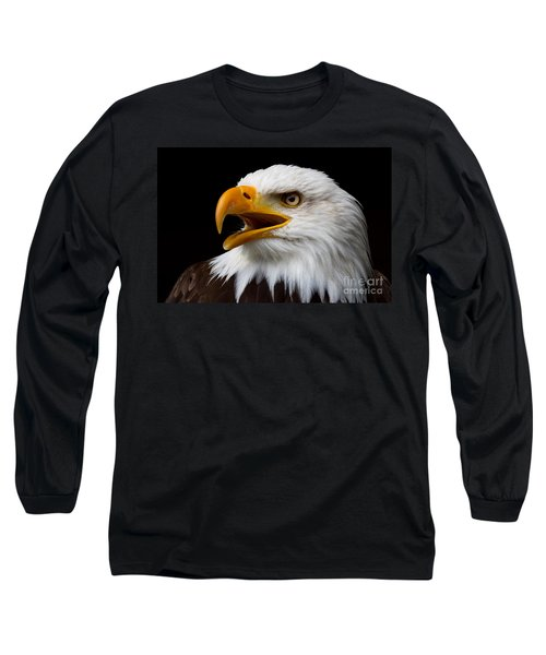 Screaming Bald Eagle Long Sleeve T-Shirt