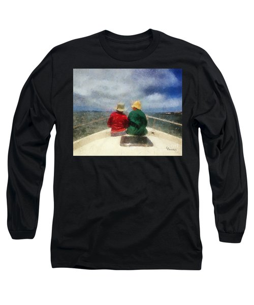 Sea Breeze 4 On The Bay Long Sleeve T-Shirt by Linda Weinstock