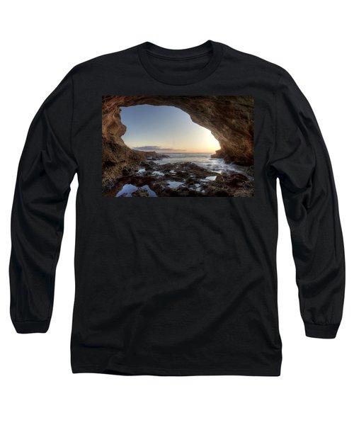Sea Cave At Thousand Steps Beach Long Sleeve T-Shirt