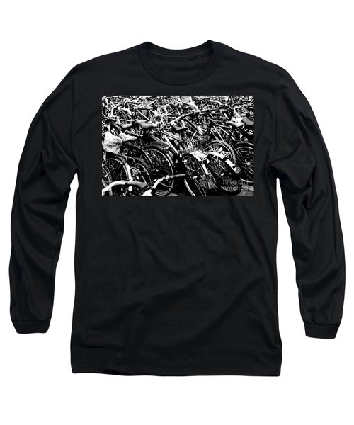 Long Sleeve T-Shirt featuring the photograph Sea Of Bicycles 2 by Joey Agbayani