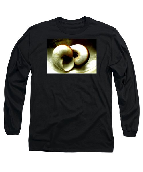 Long Sleeve T-Shirt featuring the photograph Sea Shells Meeting by Colette V Hera  Guggenheim