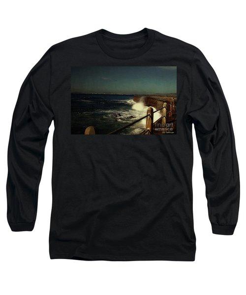 Sea Wall At Night Long Sleeve T-Shirt
