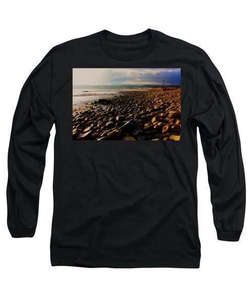 Long Sleeve T-Shirt featuring the digital art Seaton by Ron Harpham
