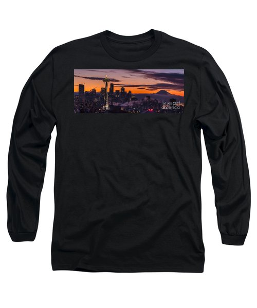 Seattle Sunrise Purples Long Sleeve T-Shirt
