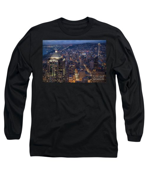 Seattle Urban Details Long Sleeve T-Shirt by Mike Reid