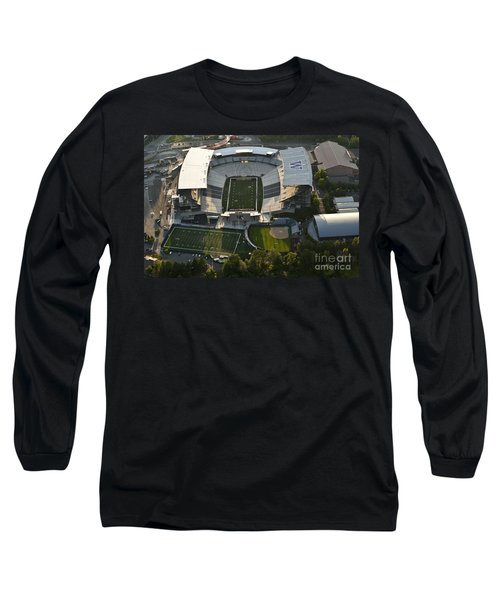 Seattle With Aerial View Of The Newly Renovated Husky Stadium Long Sleeve T-Shirt