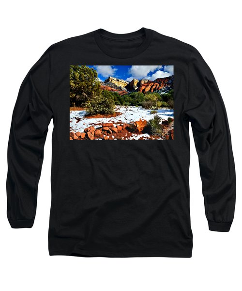 Long Sleeve T-Shirt featuring the photograph Sedona Arizona - Wilderness by Bob and Nadine Johnston
