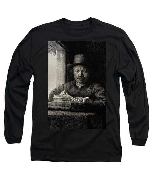 Self-portrait Etching At A Window Long Sleeve T-Shirt