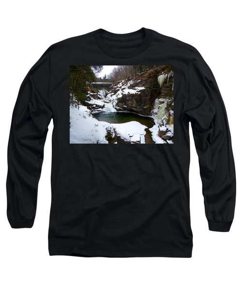 Sentinel Pine Bridge In Winter Long Sleeve T-Shirt