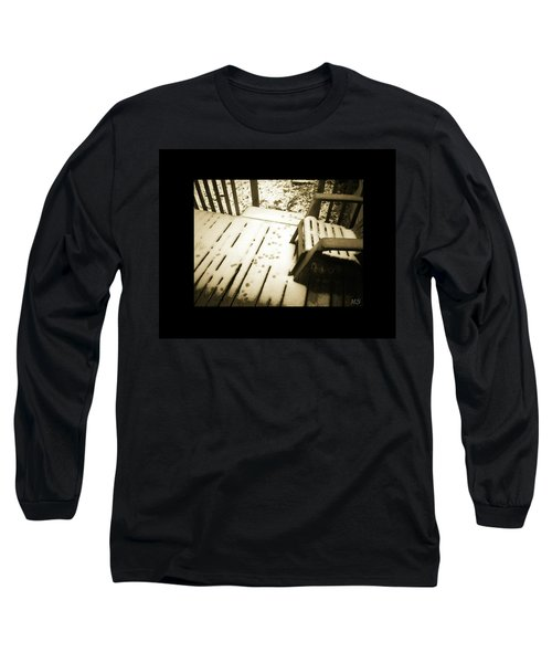 Long Sleeve T-Shirt featuring the photograph Sepia - Nature Paws In The Snow by Absinthe Art By Michelle LeAnn Scott
