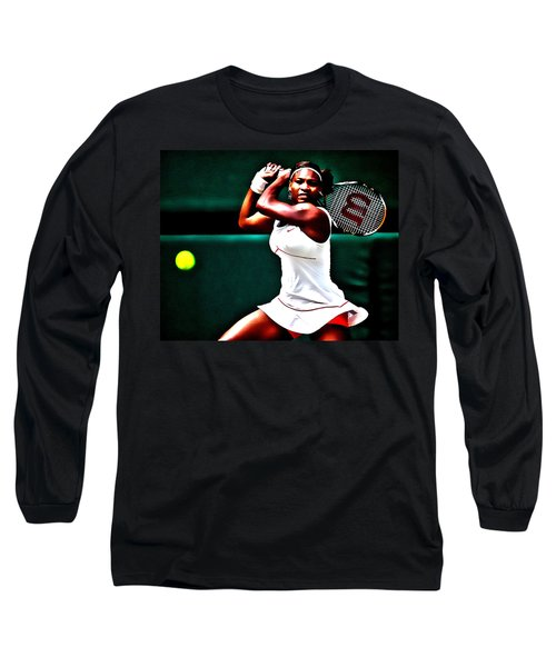Serena Williams 3a Long Sleeve T-Shirt by Brian Reaves