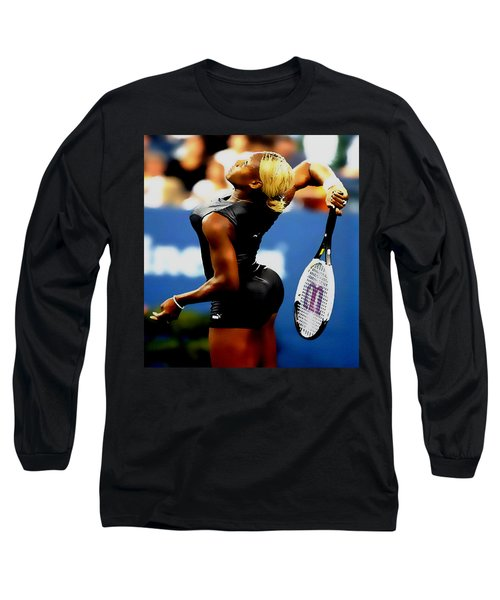 Serena Williams Catsuit II Long Sleeve T-Shirt by Brian Reaves