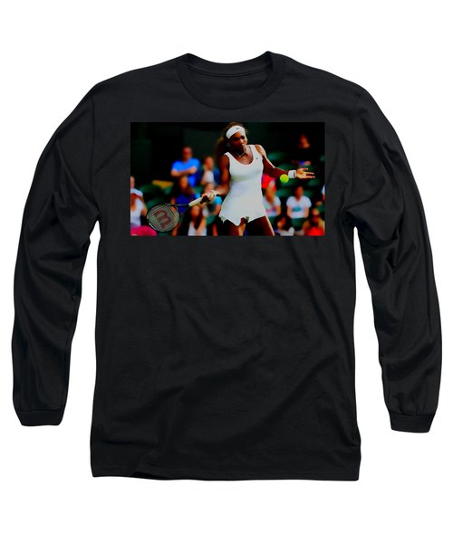 Serena Williams Making It Look Easy Long Sleeve T-Shirt by Brian Reaves