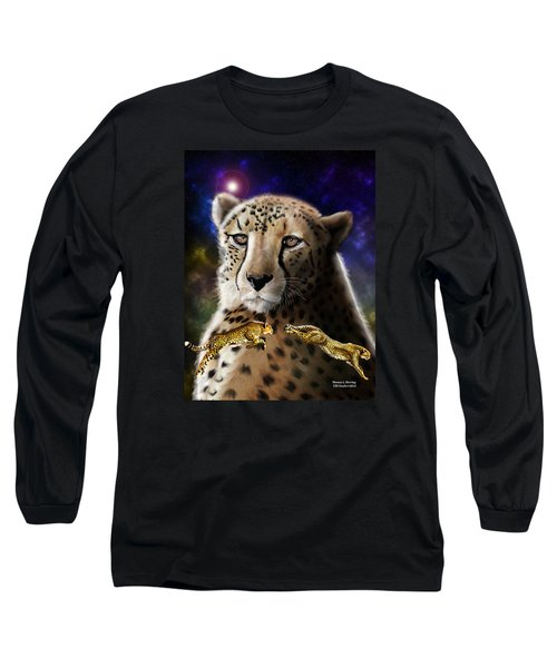 First In The Big Cat Series - Cheetah Long Sleeve T-Shirt by Thomas J Herring