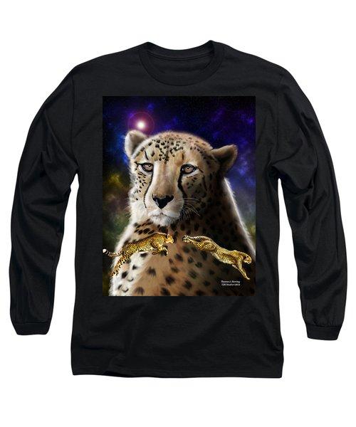 First In The Big Cat Series - Cheetah Long Sleeve T-Shirt