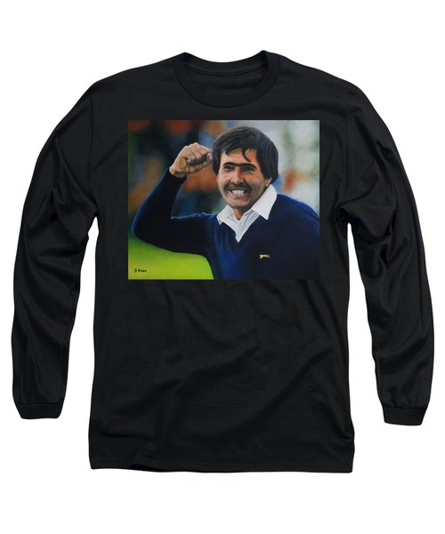 Seve Ballesteros Oil On Canvas Long Sleeve T-Shirt