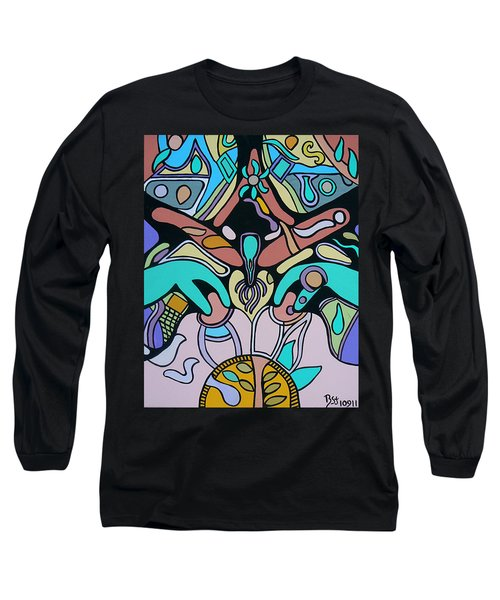Long Sleeve T-Shirt featuring the painting Sex Science by Barbara St Jean