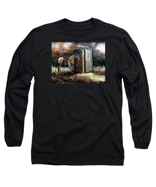 Shade For My Horse Long Sleeve T-Shirt by Lee Piper