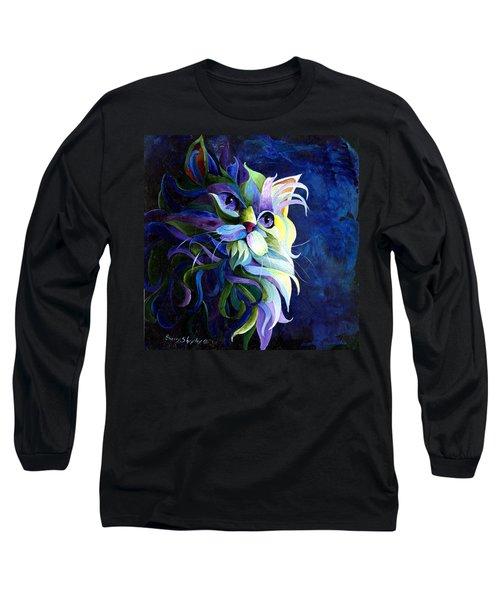 Shadow Puss Long Sleeve T-Shirt by Sherry Shipley