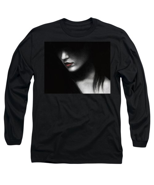 Long Sleeve T-Shirt featuring the painting Shadowed In My Mind by Pat Erickson