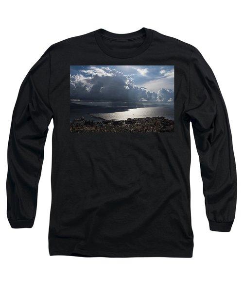 Long Sleeve T-Shirt featuring the photograph Shadows Of Clouds by Georgia Mizuleva