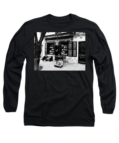 Shakespeare And Company Boookstore In Paris France Long Sleeve T-Shirt by Richard Rosenshein