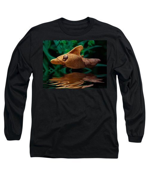 Long Sleeve T-Shirt featuring the photograph Sharkwood by WB Johnston